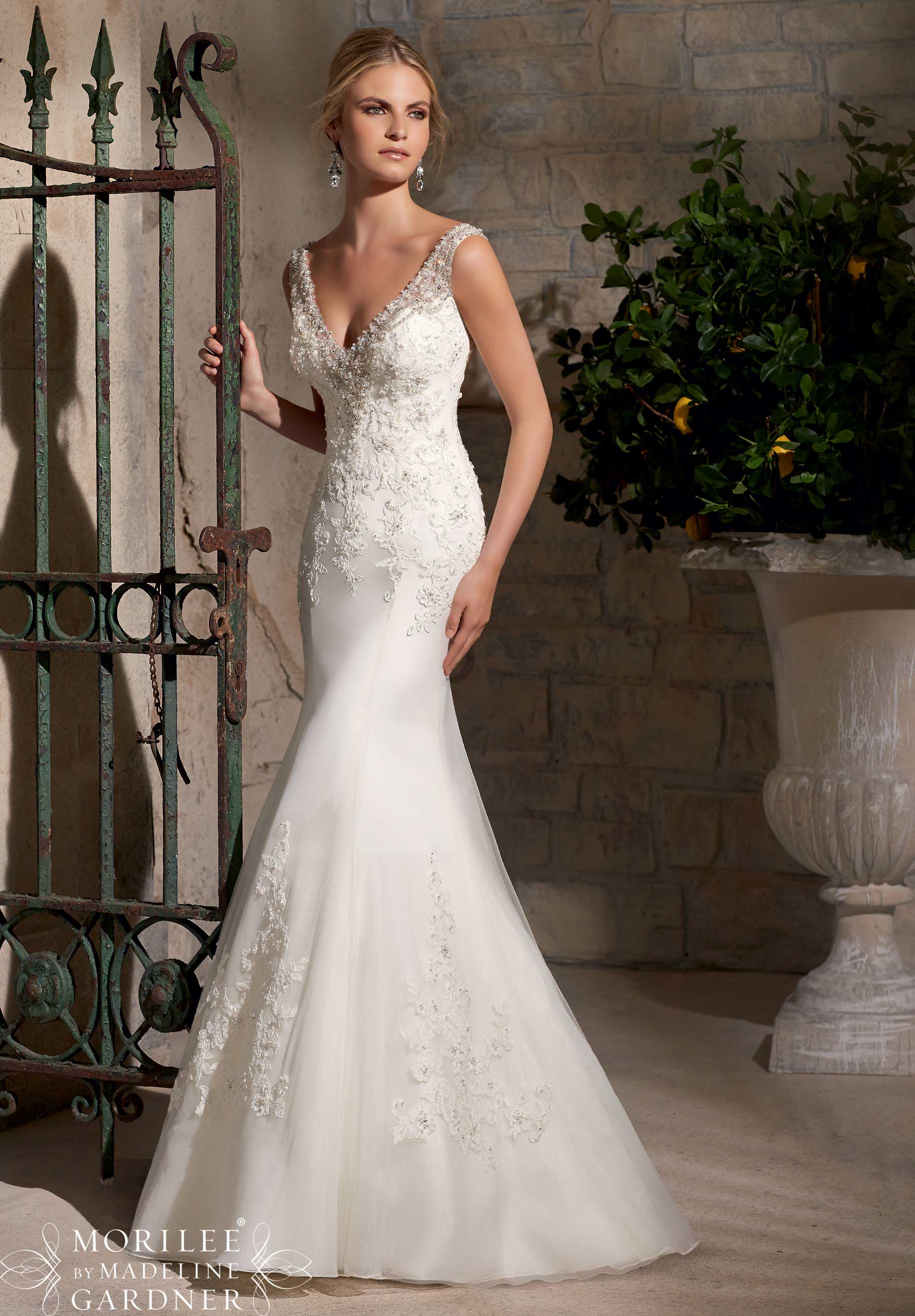 Mori Lee style #2710 beautiful lace bridal gown.