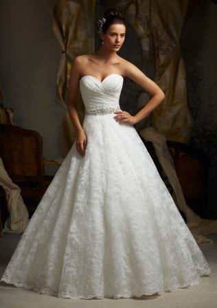 Mori Lee style #5115 beautiful lace ballgown.