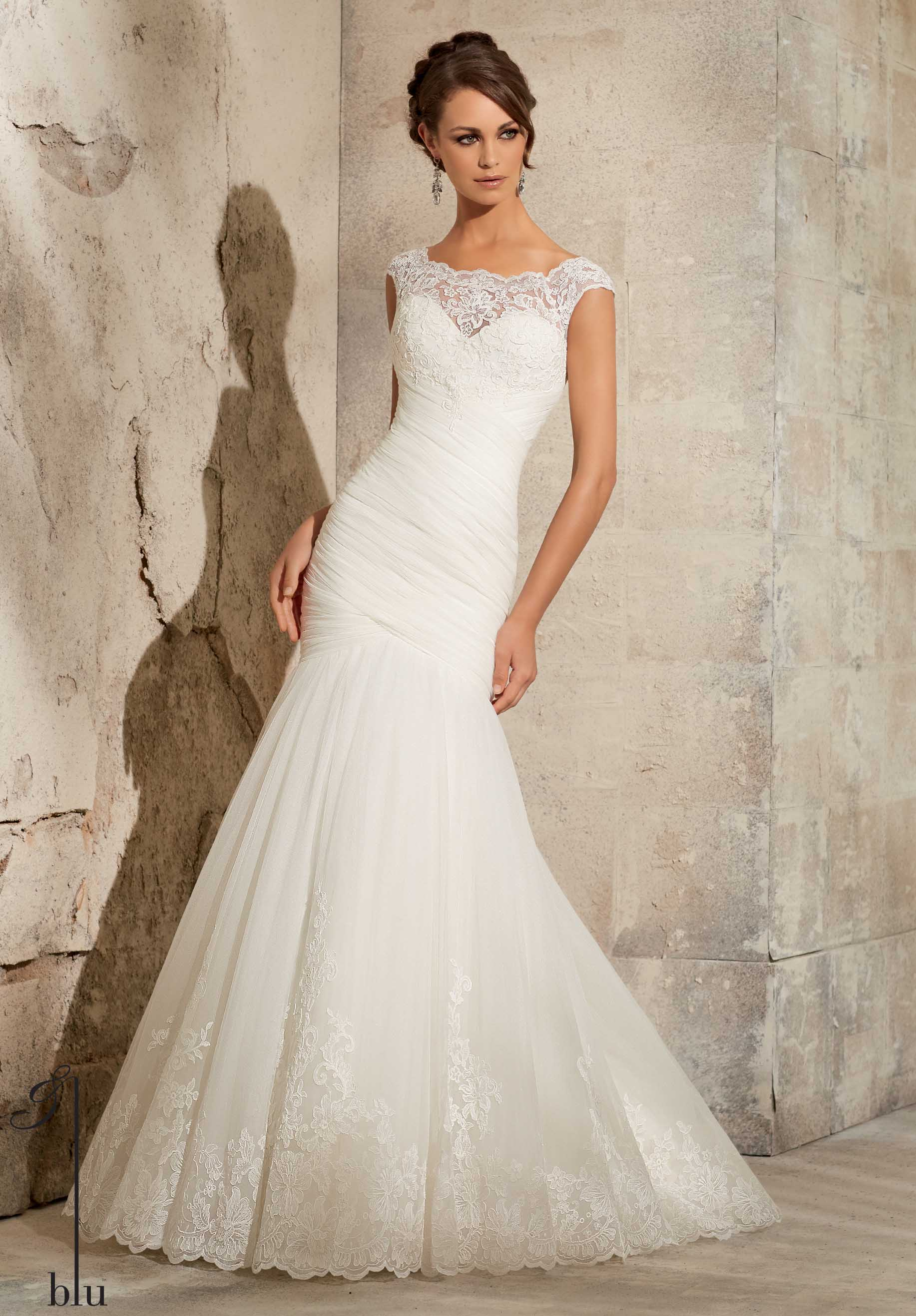 Mori Lee style #5305 beautiful lace bridal gown.