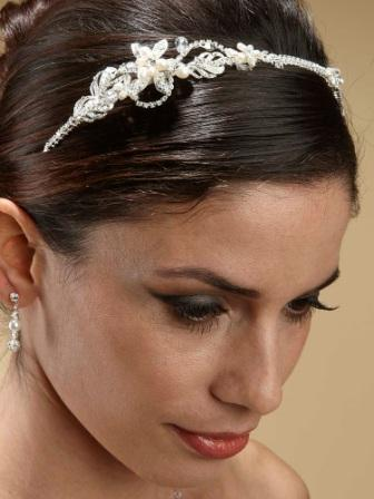 pearl and rhinestone bridal headband