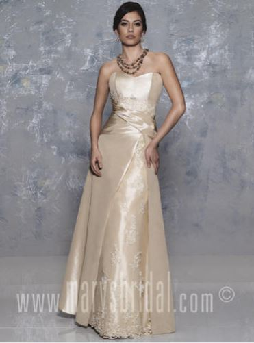 Taffeta mother of the bride gown.