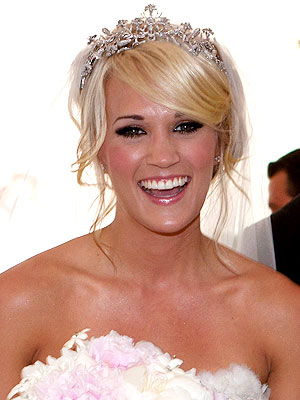Carrie Underwood's tiara and veil
