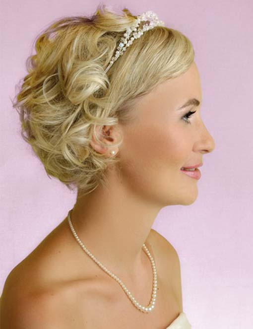 Short Wedding Hairstyles For Thin Hair